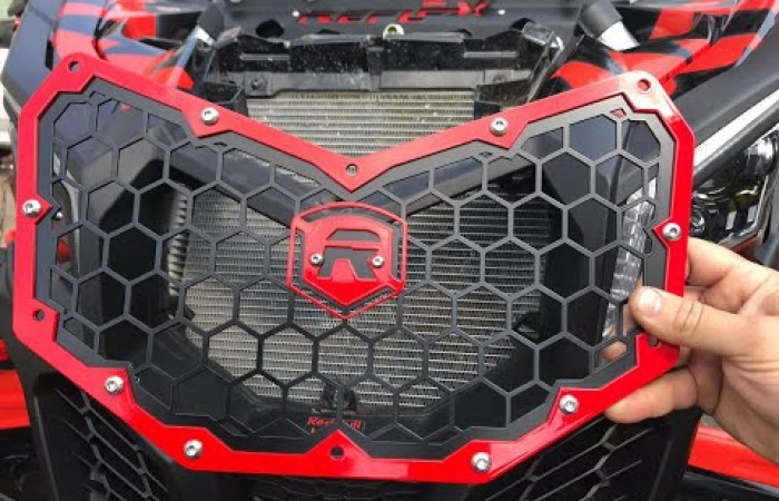 Reflex Can Am Maverick x3 grill install guide (skip to 5s)